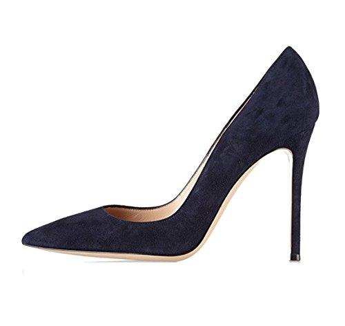 EDEFS - Scarpe col tacco donna - High Heels Sexy - Decolte Donna Tacco Alto - Tacchi a Spillo Navy
