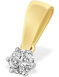 Goldmaid - So A3986GG - Pendentif Femme - Or jaune 585/1000 (14 ct) 0.5 Gr - Diamant 0.1 ct