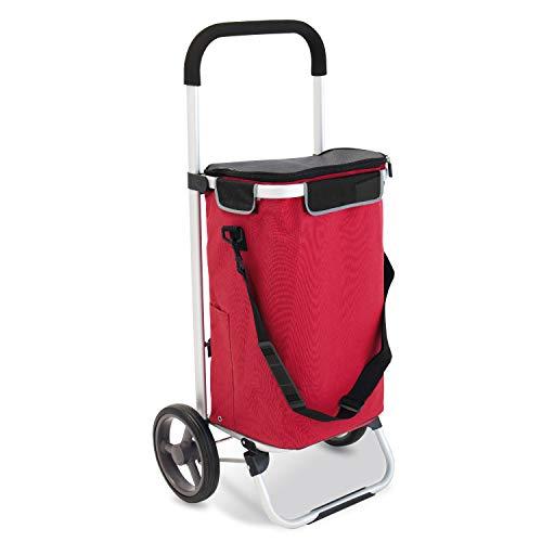 bremermann Einkaufstrolley LEESTE faltbar (rot)