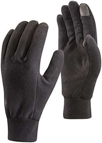 Black Diamond Lightweight Fleece Handschuhe Touchscreen geeignet / Warmer, leichter Winterhandschuh für Skitouren oder andere sportliche Aktivitäten / Unisex, Black, Größe: XL
