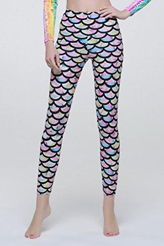 Leggings donna asmi protezione UV asmi pantaloni lunghi da spiaggia mode Multicolore - multicolore