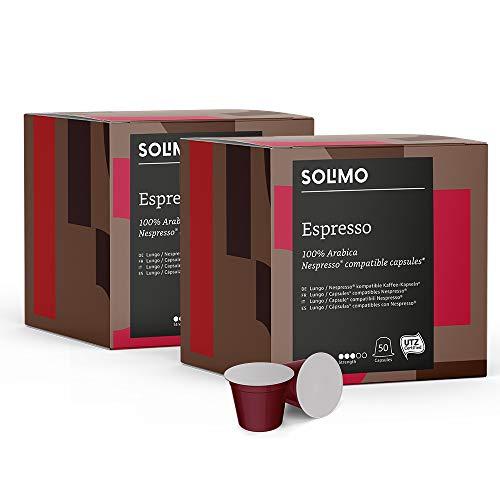 Solimo Cápsulas Espresso, compatibles con Nespresso