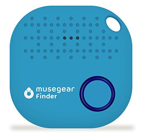 musegear Schlüsselfinder mit Bluetooth App I Version 2 I Keyfinder Laut für Handy in Hellblau I GPS Ortung/Kopplung I Schlüssel Finden