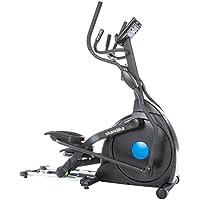 Preisvergleich für Skandika Carbon Champ Crosstrainer - Ellipsentrainer, App-Steuerung-Google Street View, Schwungmasse 23,5 kg, innovativer Magenttechnologie Bremssystem, 19 Trainingsprogrammen, klappbar, mit Brustgurt