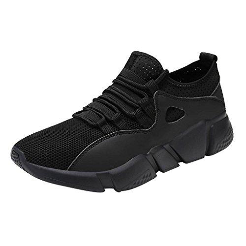 Baskets FantaisieZ Chaussures de Sport Croisées de Course Solides Chaussures à Bout Rond en Maille Baskets en Maille de Couleur Unie Chaussures de Course