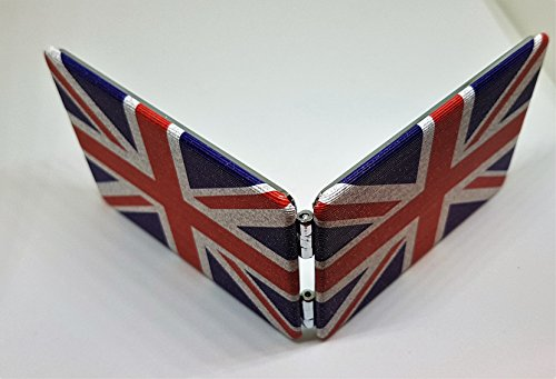 Union Jack rechteckig Pocket Spiegel – Compact/klappbar/London Souvenir/Portable/Distressed/britische Flagge/Union Flag/Cute/Vintage Retro Look/Perfect Für Make Up/Reisen/Hen Party (Handtaschen Stilvolle Großhandel)