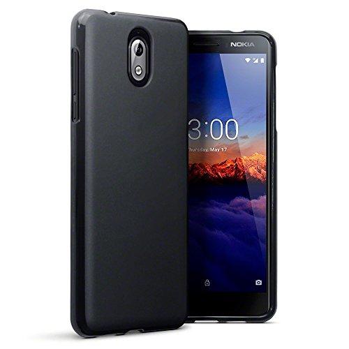 TERRAPIN, Kompatibel mit Nokia 3.1 Hülle, TPU Schutzhülle Tasche Case Cover - Matt Schwarz EINWEG