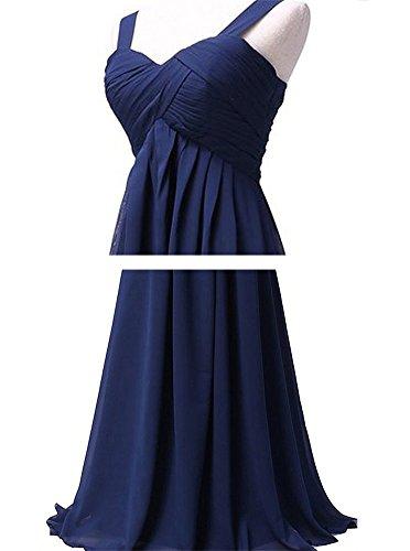 Drasawee Damen Empire Kleid Dunkelviolett