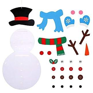 Sentido del muñeco de Nieve del muñeco de Nieve de Bricolaje Conjunto con Desmontables Adornos colgados de la Pared niños Decoraciones de Navidad