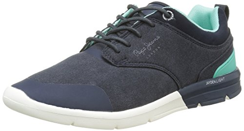 Pepe Jeans London Jayden Low, Baskets Basses Homme Bleu (585Marine)