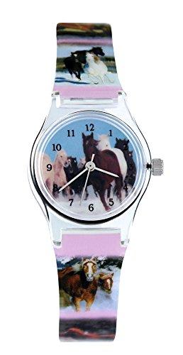pacific-time-horloge-bracelet-enfant-cheval-chevaux-sauvages-a-quartz-analogique-multicolore-20569