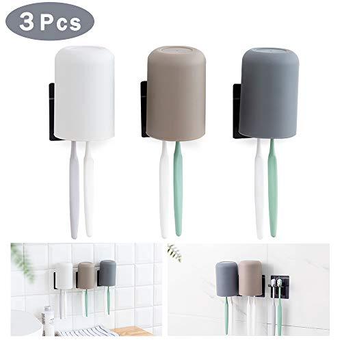 ORIY Zahnbürstenhalter zur Wandmontage, 3 m selbstklebend, Rasierer Halter für Badezimmer, 3 Stück