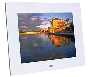 """Braun Digiframe 850 Cornice Digitale 8"""", Riproduzione Foto-Video-Audio, Risoluzione 800X600, Rapporto 4:3, Tecnologia di Retroilluminazione LED, Bianco"""