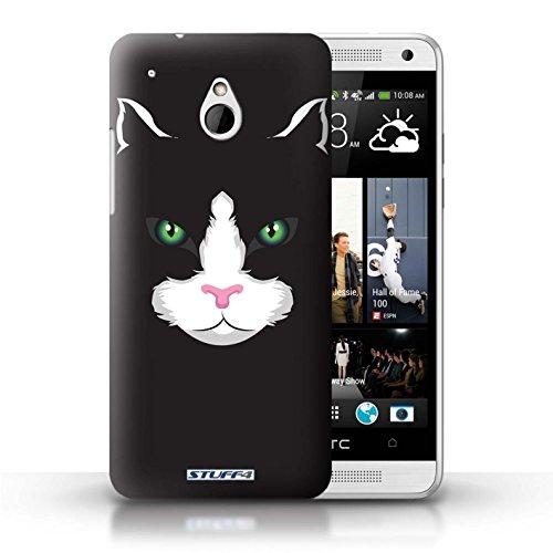 Kobalt® Imprimé Etui / Coque pour HTC One/1 Mini / Gorille / Chimpanzé / Singe conception / Série Museaux Chat noir