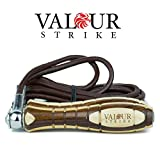 Valour Strike Leather Weighted Skipping Ropes Fully Height Adjustable inc Removable Weights Jump