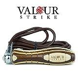 Corda per saltare, in cuoio di alta qualità, regolabile, con velocità di salto ponderata, per allenamento da boxe