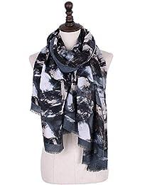 df1d9fc404fb Écharpe pour femmes glamour Foulards pour femmes Whippersnapper Coloration  solide Automne Hiver Foulard Wraps pour femme