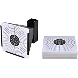 vidaXL Porte Cible récepteur de plombs + 100 cibles en Papier 14 cm Jeu de tir