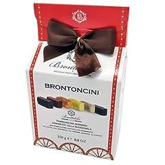 Idea Regalo - Torroncini Morbidi di Bronte - Scatola regalo -Vari Gusti 250g. Dai classici al cioccolato fondente agli aromatizzati al limone, dal sapore più deciso del caffè a quello più delicato della vaniglia.