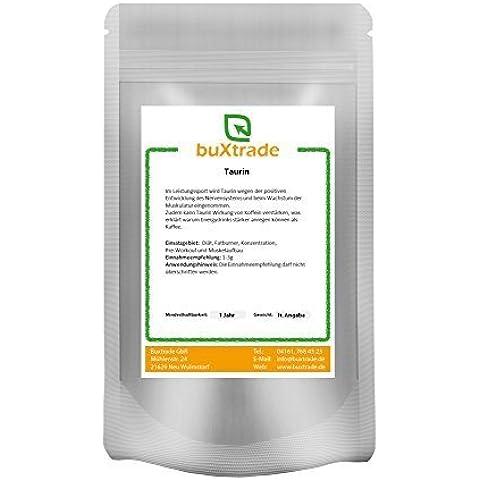4 x 500 g Taurina 100% puro Polvo La masa muscular Nutrición deportiva 2kg