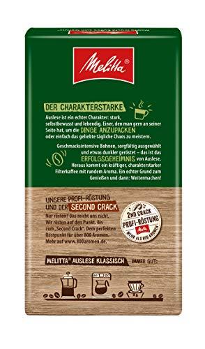 Melitta Gemahlener Röstkaffee, 12x500g, Filterkaffee, vollmundig und temperamentvoll, kräftiger Röstgrad, Stärke 4, Auslese Klassisch