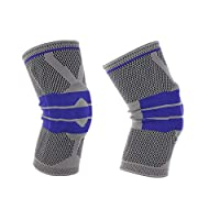 2PCS Adjustable Elastic Knee Support Brace Kneepad Patella Hole Sports Kneepad Safety Guard Strap For Running sports