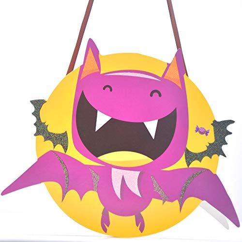 hou zhi liang Halloween Goody Taschen Halloween Dekorationen Neuheit Halloween Thema Trick or Treat Goodie Taschen für Kinder Kinder und Jugendliche (lila Bat)