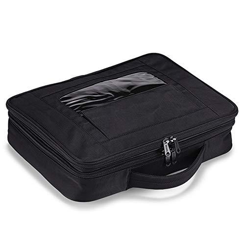 Schicke Laptoptasche, Moderne personalisierte Laptoptasche, Regendichtes Canvas Stoff Laptop Umhängetasche, Umhängetasche, Multifunktionsbeutel, Geeignet für Männer/Frauen - Weiß (Color : Black-L) -