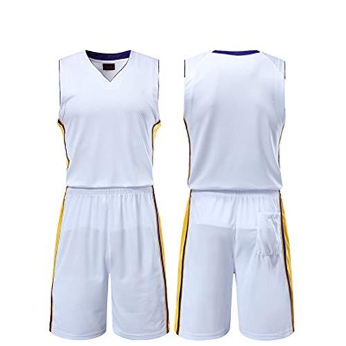 Jersey - NBA Logo Anpassung Bestickte Mesh Basketball Fußball Set Shirt TOP Shorts-A-XXL -