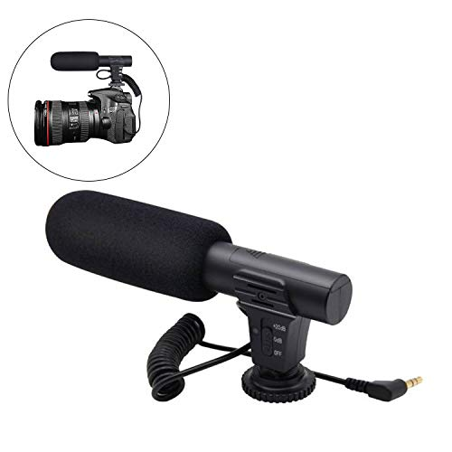 Haol Externe DSLR DV Kamera Camcorder Interview Mikrofon Shotgun Mic Für Canon Nikon