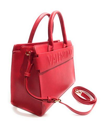 Mario Valentino Damen Egeo Tornistertasche, 5x17x22 Cm Red (rosso)