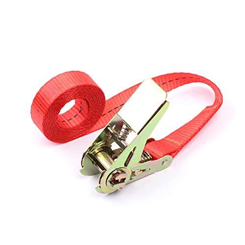 2 Metri Verde Militare Tsubaya Cinghie di carico con Fibbia a Cinghia per Bici da Moto per Auto con Fibbia in Metallo Corda di Traino per Cintura Cintura a cricchetto per Bagaglio