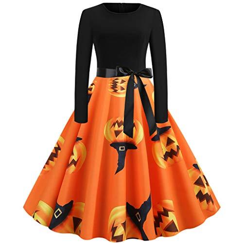 Battnot Halloween Kostüm für Damen Kleider mit