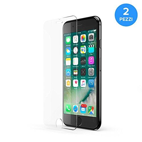 """2x CoverStyle® HyperGlass A+ 0.3 - Pellicola in Vetro Temperato Oleofobico per iPhone 7 (4.7"""") - Trasparente"""
