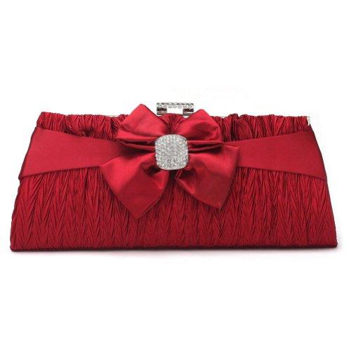 Pochette Da Sera Con Pochette Strass Donna Glamour Damara, Rosso Oro