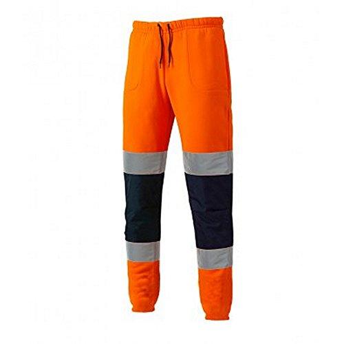 Dickies - pantaloni sportivi alta visibilità - uomo (xxl) (arancione/blu scuro)