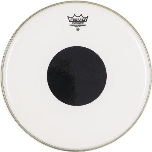 Remo CS021010 Trommelfell für Controlled Sound Trommelkopf, Black Dot On Top, Smooth White