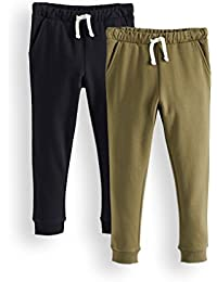 Amazon Brand - RED WAGON Boy's Sports Trousers, Pack of 2