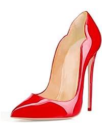 EDEFS Scarpe col Tacco Donna Classico Ritaglio High Heels Chiuse Davanti  Scarpa 5ca7d16a625