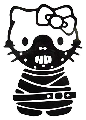 Halloween Decal Funny Sticker Fall Sticker Hello Kitty Hannibal Halloween Gothic Bondage Vinyl Sticker Decal Transfers 51 Inches