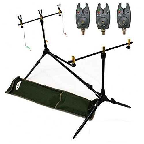 rod pod Rod Pod with Bite Alarms for 3Rods and Bag Included Hängebissa ' by NGT