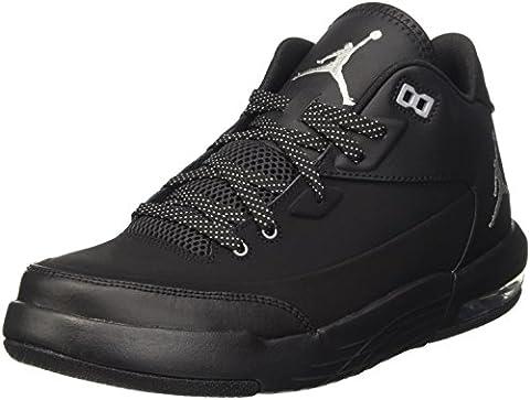 Nike Jordan Flight Origin 3, chaussures de sport homme, Black Metallic Silver-Blk-Blk, EU 44 (US 10)