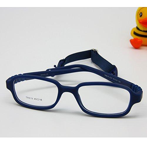 EnzoDate Jungen Mädchen Optische Gläser Frame mit Gurt flexibel für Räume nicht - Kinder,...