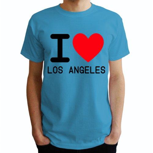 I love Los angeles Herren T-Shirt Blau