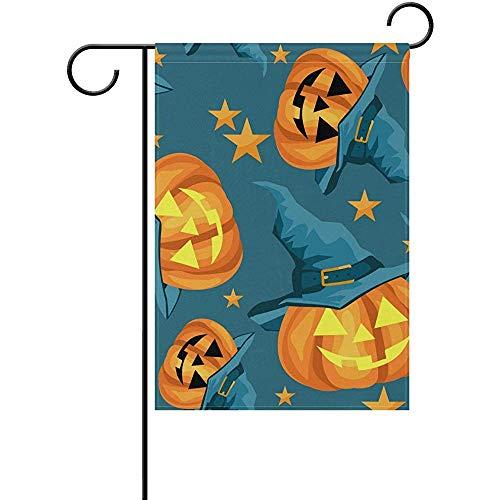 hdgfjhdfjdf Halloween Pumpkin Boo Skull Autumn Fall Garden House Flag Yard Banner for Outside Flower Pot Double Side Print 12