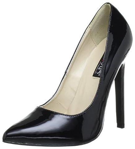 Pleaser EU-SEXY-20 Pumps Womens Black Schwarz (Blk pat) Size:37 EU/4 UK