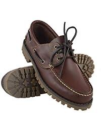 Zerimar Zapato Náutico de Piel para Hombre | Zapatos Náuticos Ligeros | Mocasines Cuero | Mocasines