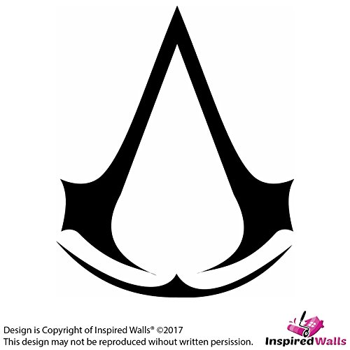Preisvergleich Produktbild Weiß Stoßstange / Assassin's Creed logo Auto Fenster Vinyl Abziehbilder Aufkleber by Inspired Walls®