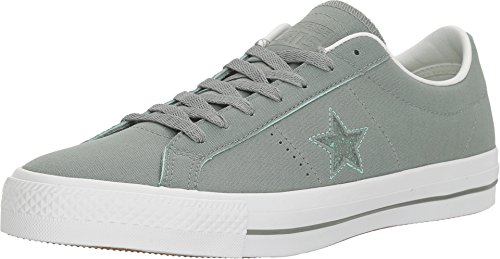 Camo Leder Skate Schuhe (Converse Unisex One Star Pro Suede Ox Skate Shoe (13 D(M) US, Camo Green/Green Glow/White))