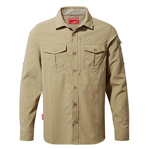 Craghoppers Herren CR165Nosilife Adventure langärmelige Shirt Camel
